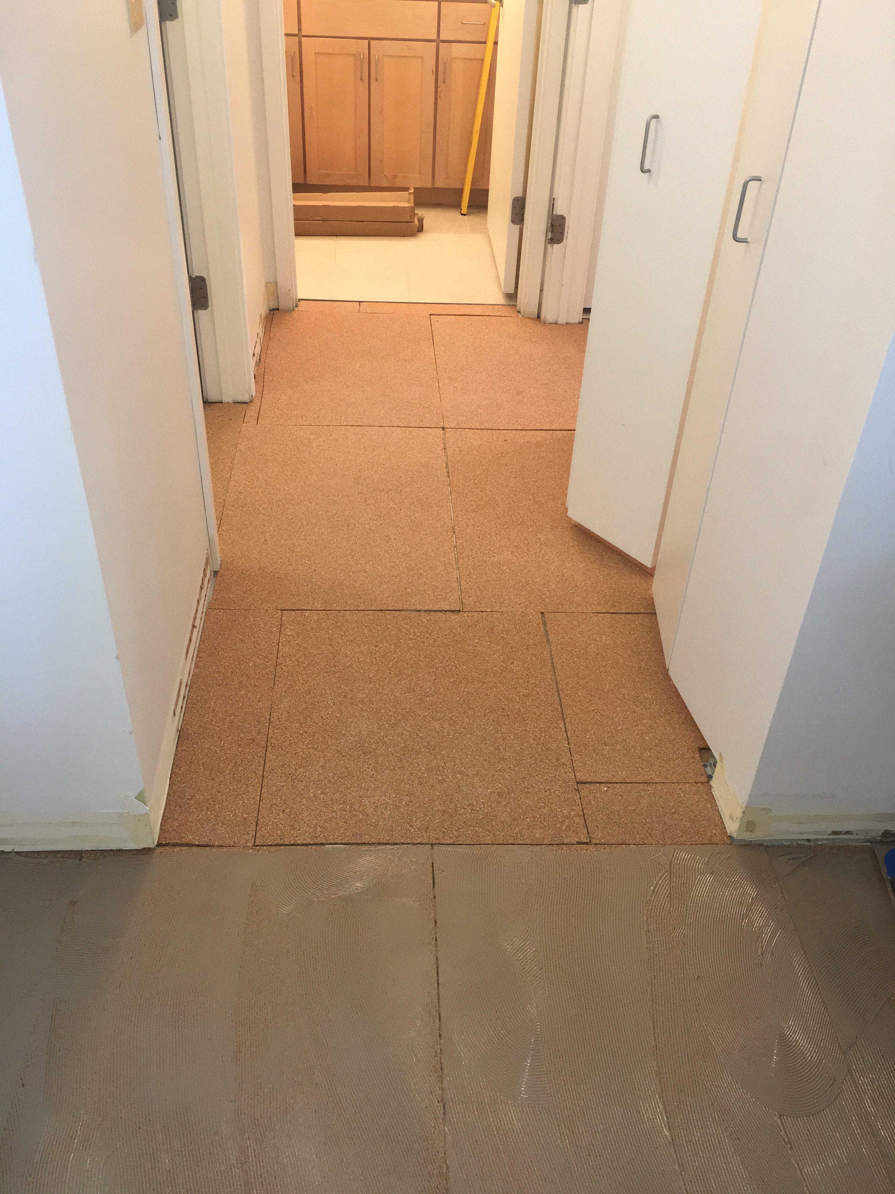 Downtown Chicago Glue Down Cork Floor Installation